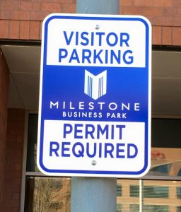 custom outdoor parking sign
